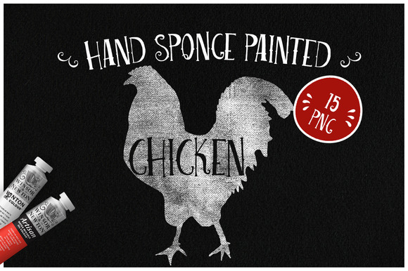 Sponge Painted Chicken