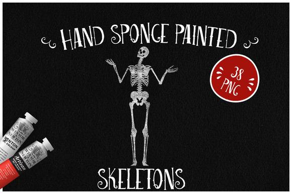 Sponge Painted Skeletons