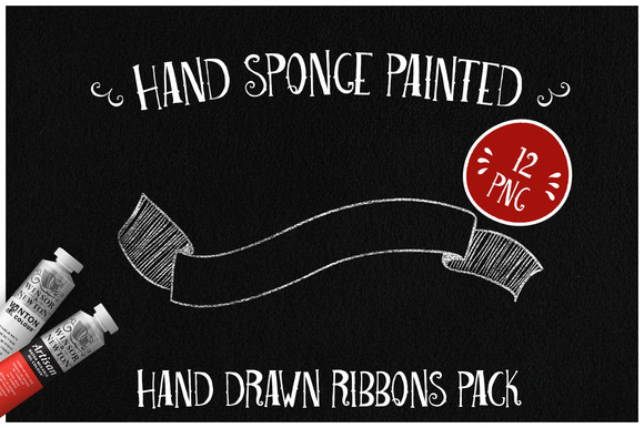Sponge Painted Ribbons