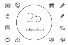 25 Outline Education Icons