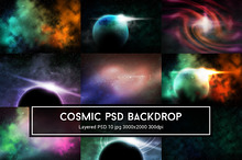 Cosmic Nebula PSD Backdrop