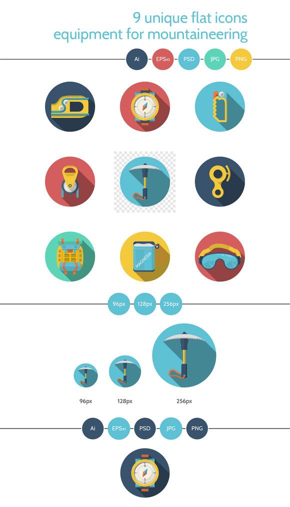 Mountaineering equipment icon. Set 2 - Icons