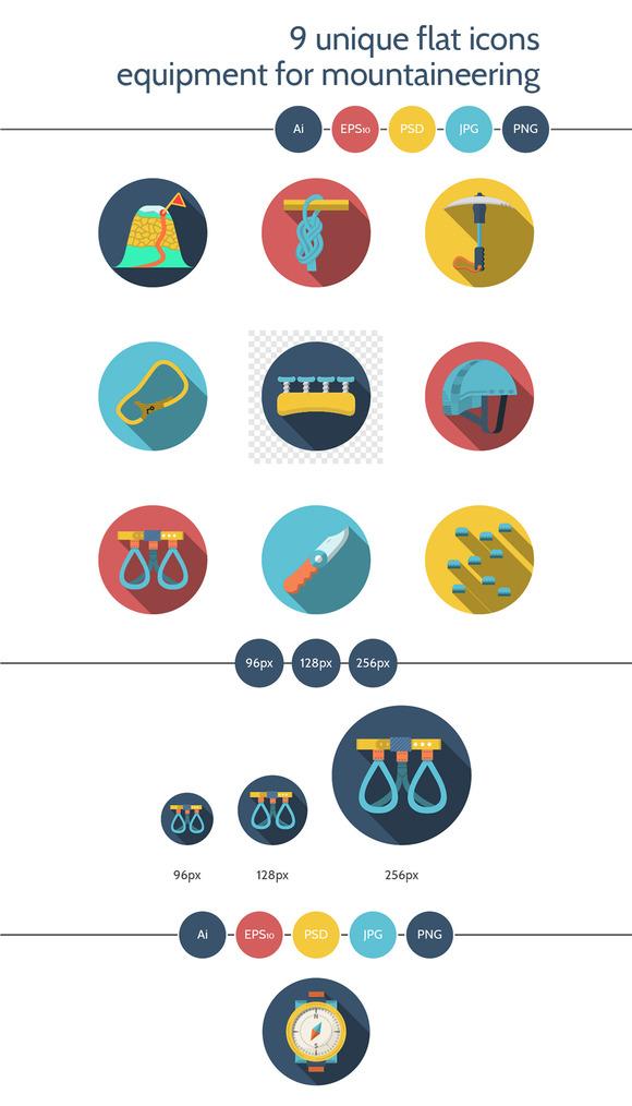 Mountaineering equipment icon. Set 3 - Icons