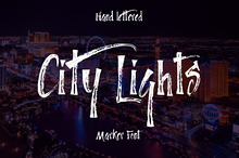 City Lights marker font