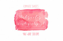 Romantic shades washes clipart w-03
