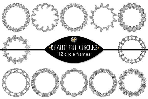 Beautiful Circles 12 Circle Frames