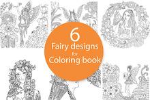 6 unique fairy designs set
