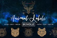 Animal Labels Bundle