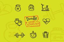 8 Doodle Icons. Farm Animals