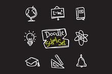 8 Doodle Icons. Education Set
