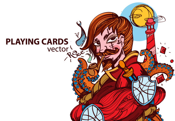 Four Jacks. Playing cards - Illustrations