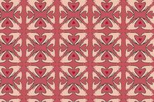 Seamless pattern of hand in hert sha
