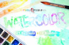 Vector Watercolor Brushes & Symbols