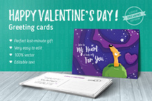 Dreaming Valentine greeting cards