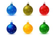 Set of Christmas Tree Colored Balls
