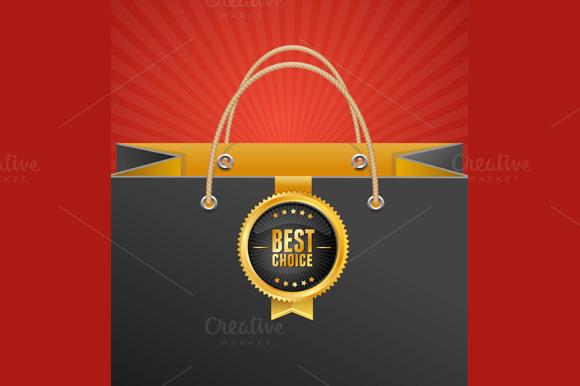 Paper Bag Background. Vector - Illustrations