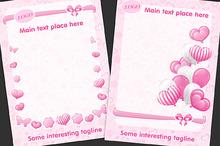 SET / 5 / Child pink templates