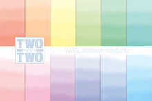 Watercolor Ombre Digital Patterns