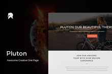 Pluton - Creative One Page