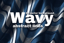 Wavy abstract line backgraund