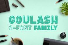 Goulash 3-Font Family