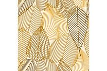 Orange, yellow, brown leaves pattern