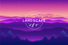 Landscape - 6 Vector Backgrounds