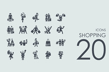 20 Shopping icons