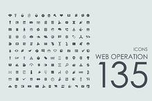 135 Web Operation icons