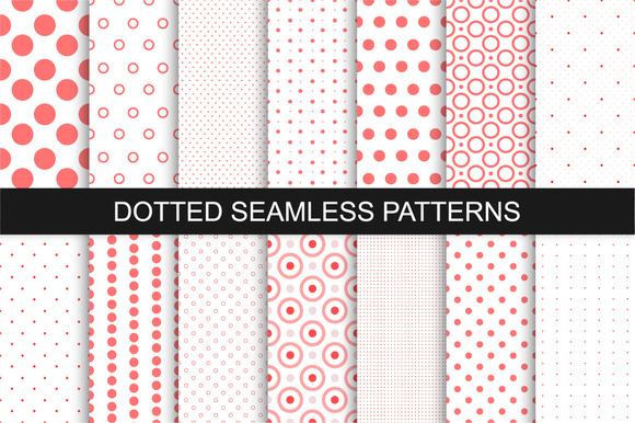 Dotted seamless patterns. Vector set - Patterns