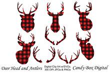 Deer & Antler Red Buffalo Check
