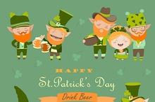 St.Patrick day with leprechaun