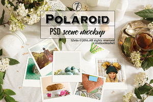 Polaroid stock images, teatime
