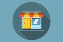 Store with awning icon