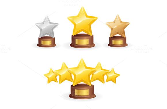 Star Award Set. Vector - Illustrations