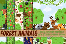Forest Animals Paper and Patterns