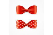 Bow Tie Set. Vector