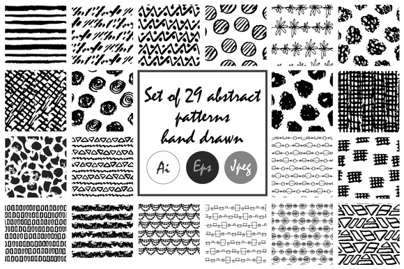 Abstract patterns. Hand drawn - Patterns