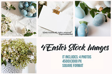 4 Easter stock images pack
