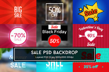 Sale PSD Backdrop