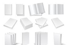 Blank book templates set