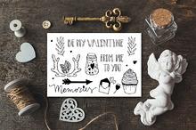 Set of doodles. Saint Valentine.