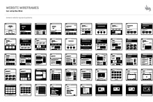 Web Layouts & Wireframe Icon Set