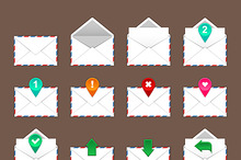 Envelopes icons set