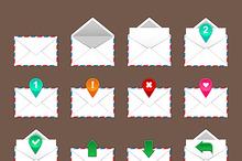 Envelopes icons set