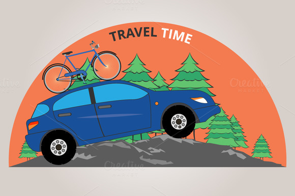 Travel Time. Vector illustration  - Illustrations