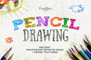 Pencil Drawing Photoshop Effects