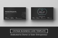 Safana Salon Vintage Business Card