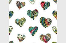 pattern of Tangle Patterns hearts