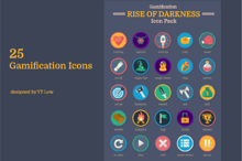 25 Gamification Icon Pack